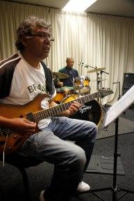 Veteran guitarist Issy Ariefdien doing what he does best this week.