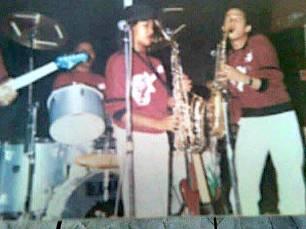 Madeegha the aspirant saxophonist . . .